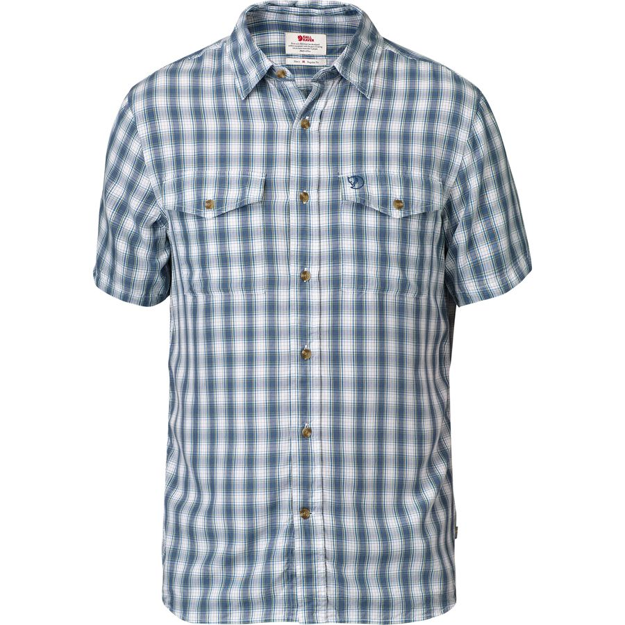 Fjallraven Abisko Cool Shirt - Short-Sleeve - Men's Lake Blue アウトドア メンズ 男性用 シャツ Performance Shirts