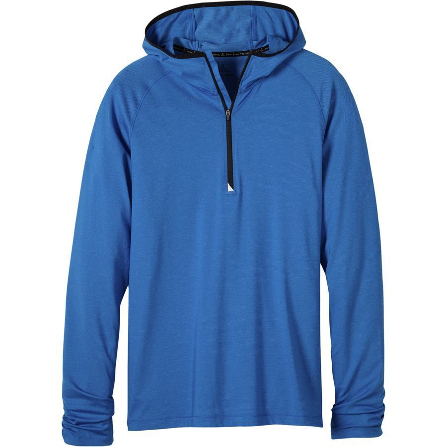Prana Breaker 1 4-Zip Hooded Shirt - Men's Classic Blue アウトドア メンズ 男性用 シャツ Performance Shirts