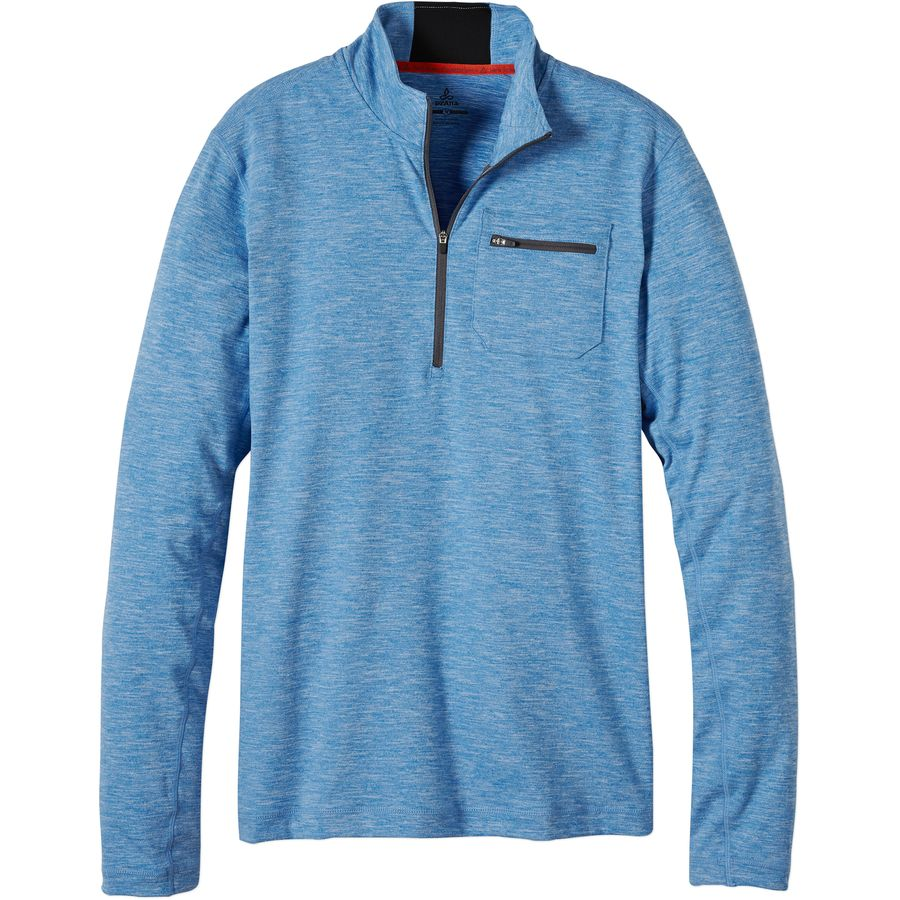 Prana Zylo 1 4-Zip Shirt - Long-Sleeve - Men's Classic Blue アウトドア メンズ 男性用 シャツ Performance Shirts