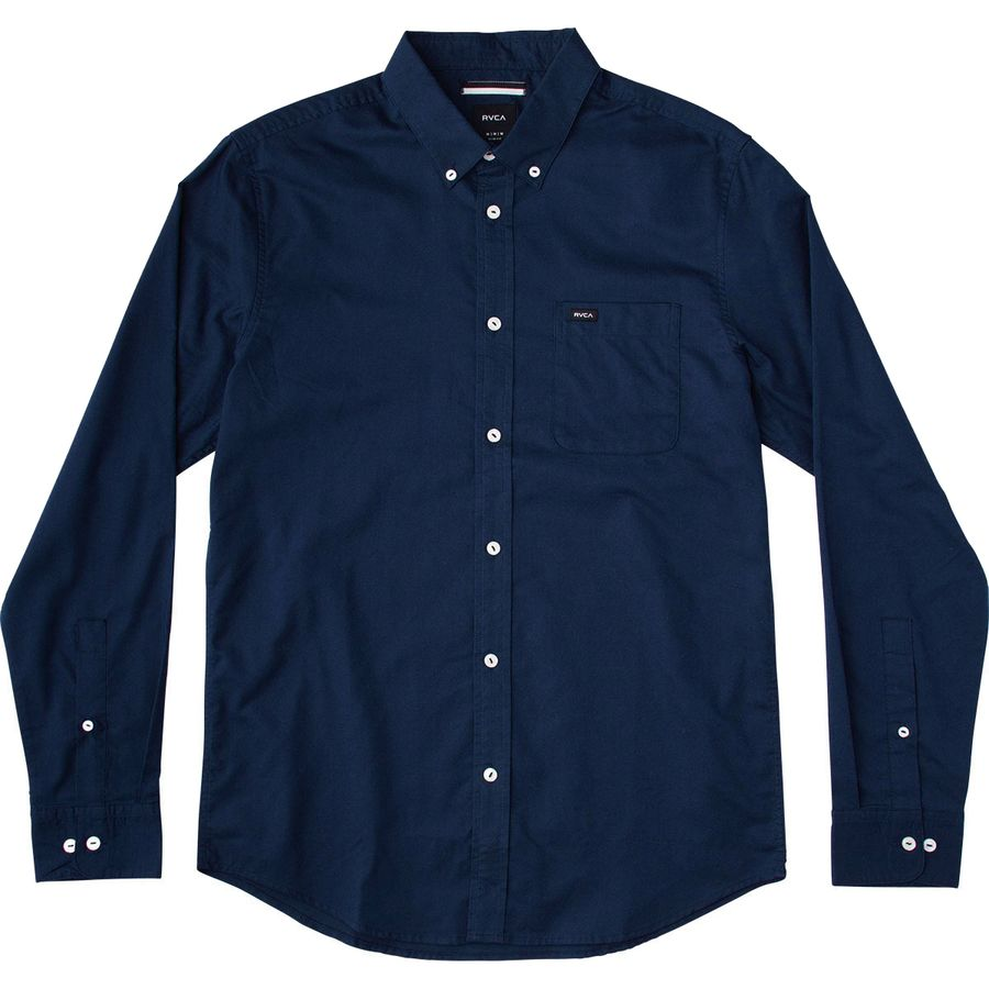 RVCA That'll Do Oxford Shirt - Long-Sleeve - Men's Federal Blue アウトドア メンズ 男性用 シャツ Button-Down Shirts