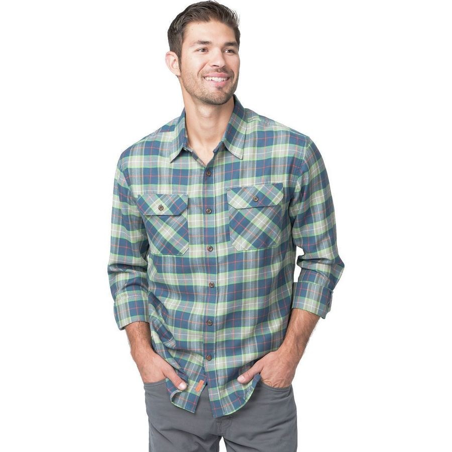 Basin and Range Woodside Plaid Midweight Quick-Dry Flannel Shirt - Men's Grey Plaid アウトドア メンズ 男性用 シャツ Button-Down Shirts