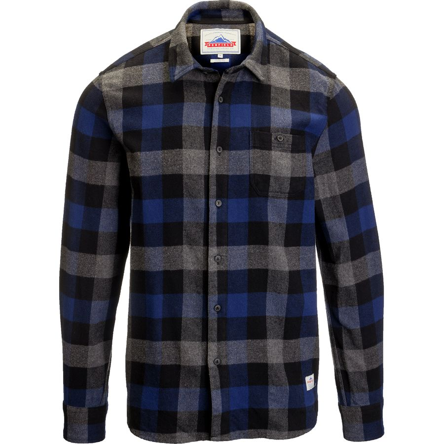Penfield Valleyview Check Shirt - Men's Blue アウトドア メンズ 男性用 シャツ Button-Down Shirts