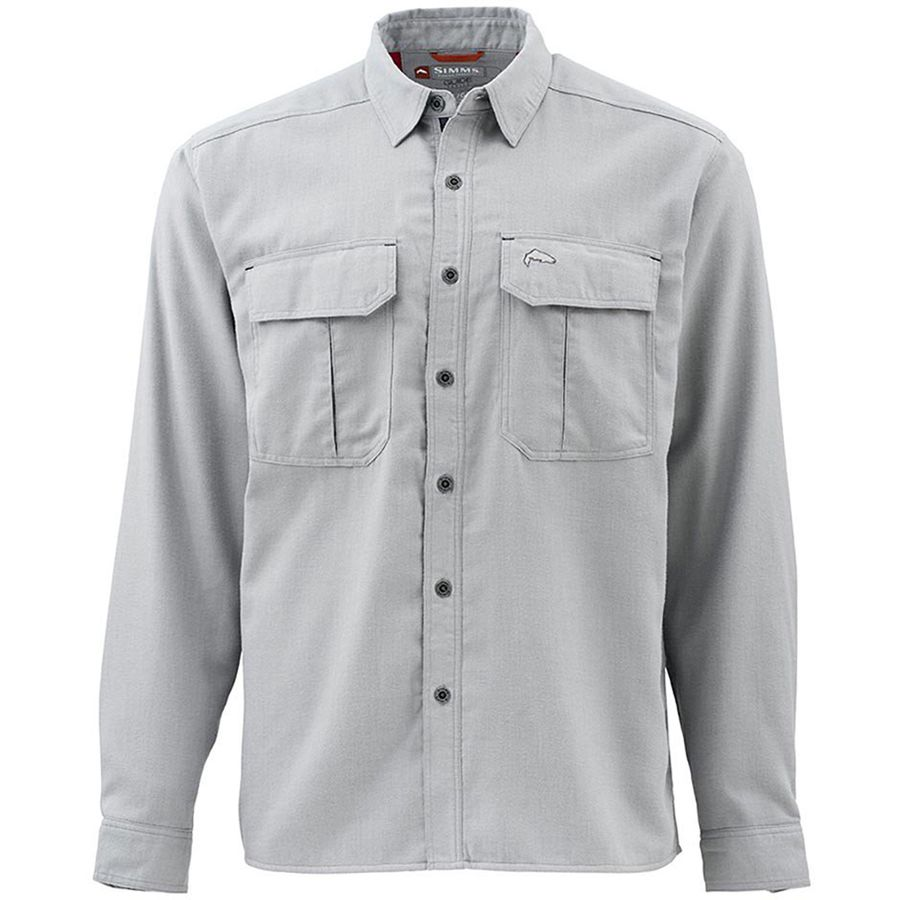 Simms Cold Weather Long-Sleeve Shirt - Men's Boulder アウトドア メンズ 男性用 シャツ Button-Down Shirts
