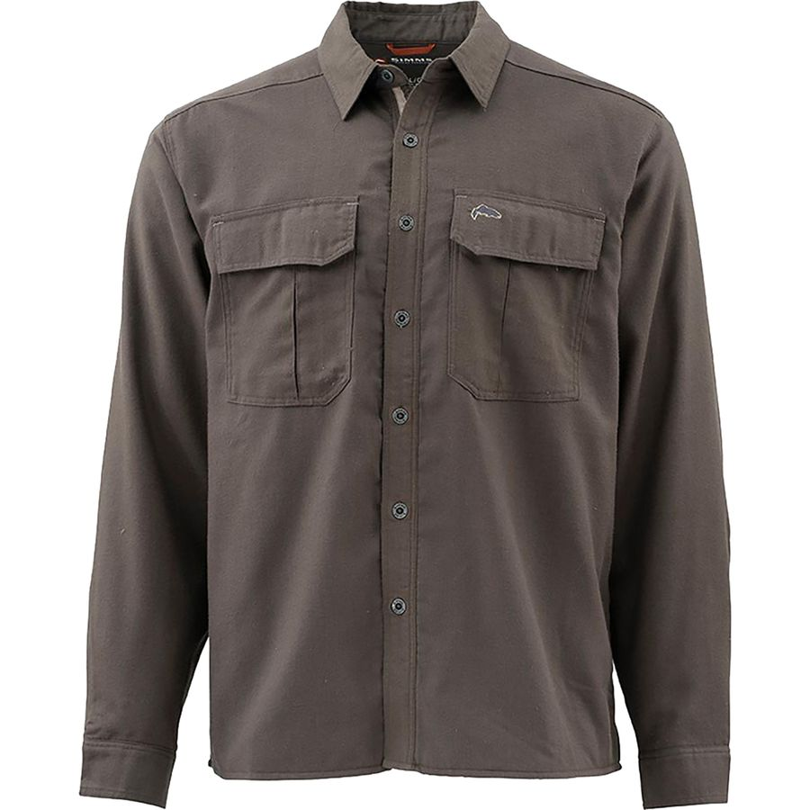 Simms Cold Weather Long-Sleeve Shirt - Men's Dark Olive アウトドア メンズ 男性用 シャツ Button-Down Shirts