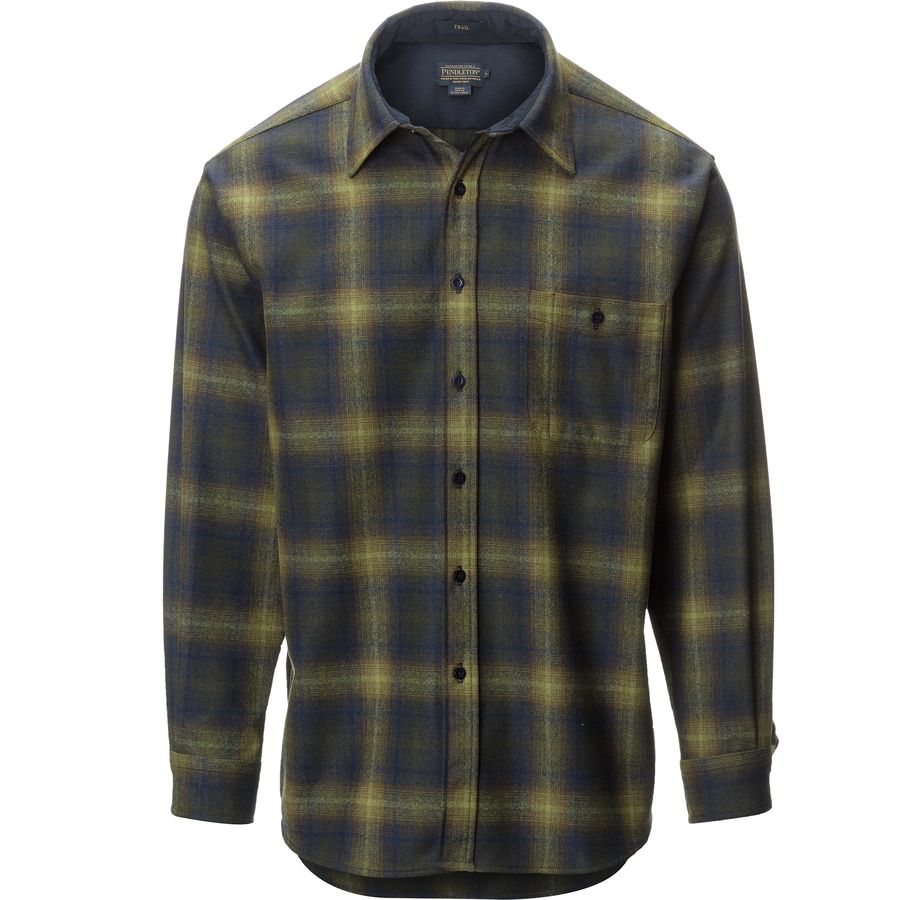 Pendleton Trail Shirt - Long-Sleeve - Men's Olive Blue Ombre アウトドア メンズ 男性用 シャツ Button-Down Shirts
