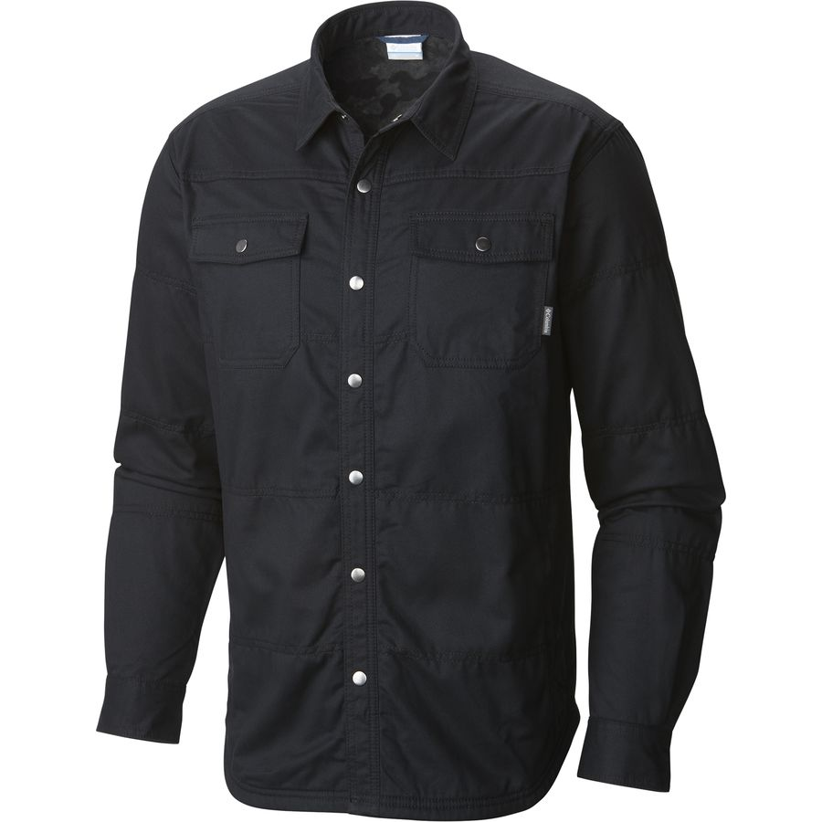 Columbia Log Vista Shirt Jacket - Men's Black Black Camo アウトドア メンズ 男性用 シャツ Button-Down Shirts