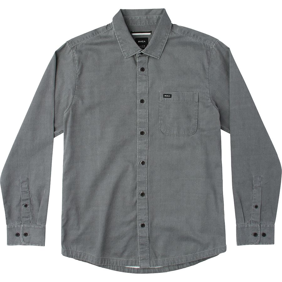 RVCA Service Shirt - Long-Sleeve - Men's Smoke アウトドア メンズ 男性用 シャツ Button-Down Shirts
