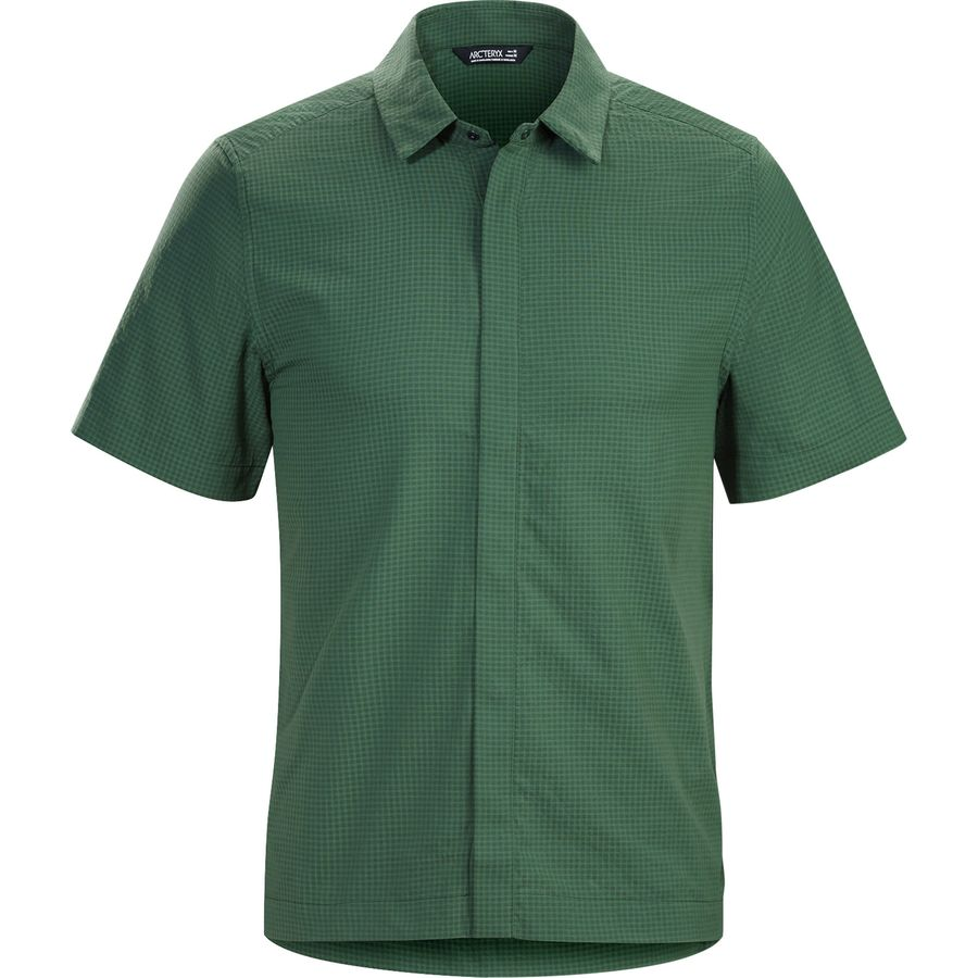 Arc'teryx Revvy Shirt - Short-Sleeve - Men's Cypress アウトドア メンズ 男性用 シャツ Button-Down Shirts