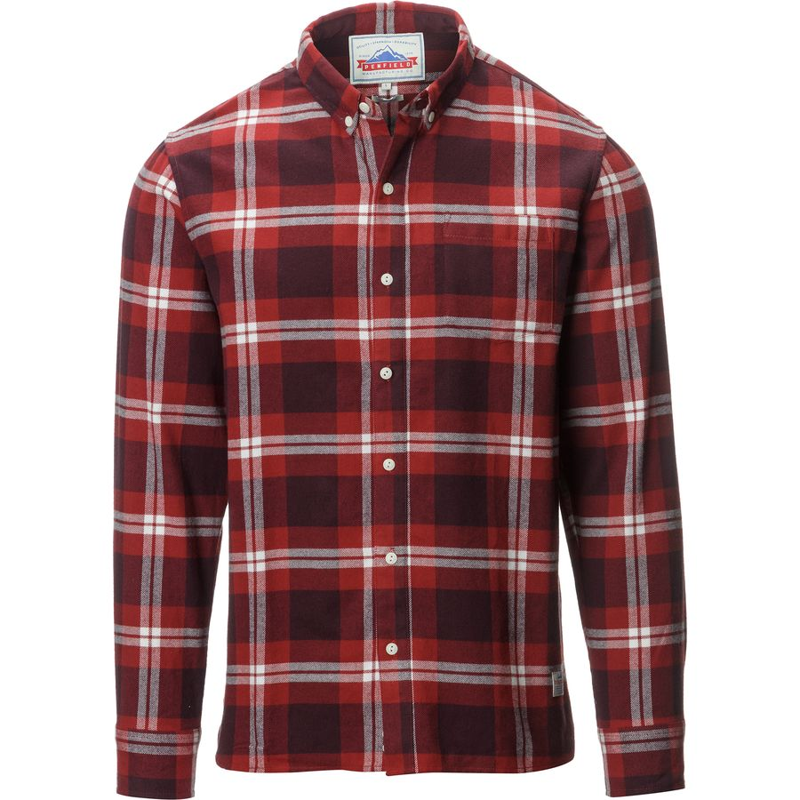 Penfield Riverview Check Shirt - Long-Sleeve - Men's Red アウトドア メンズ 男性用 シャツ Button-Down Shirts