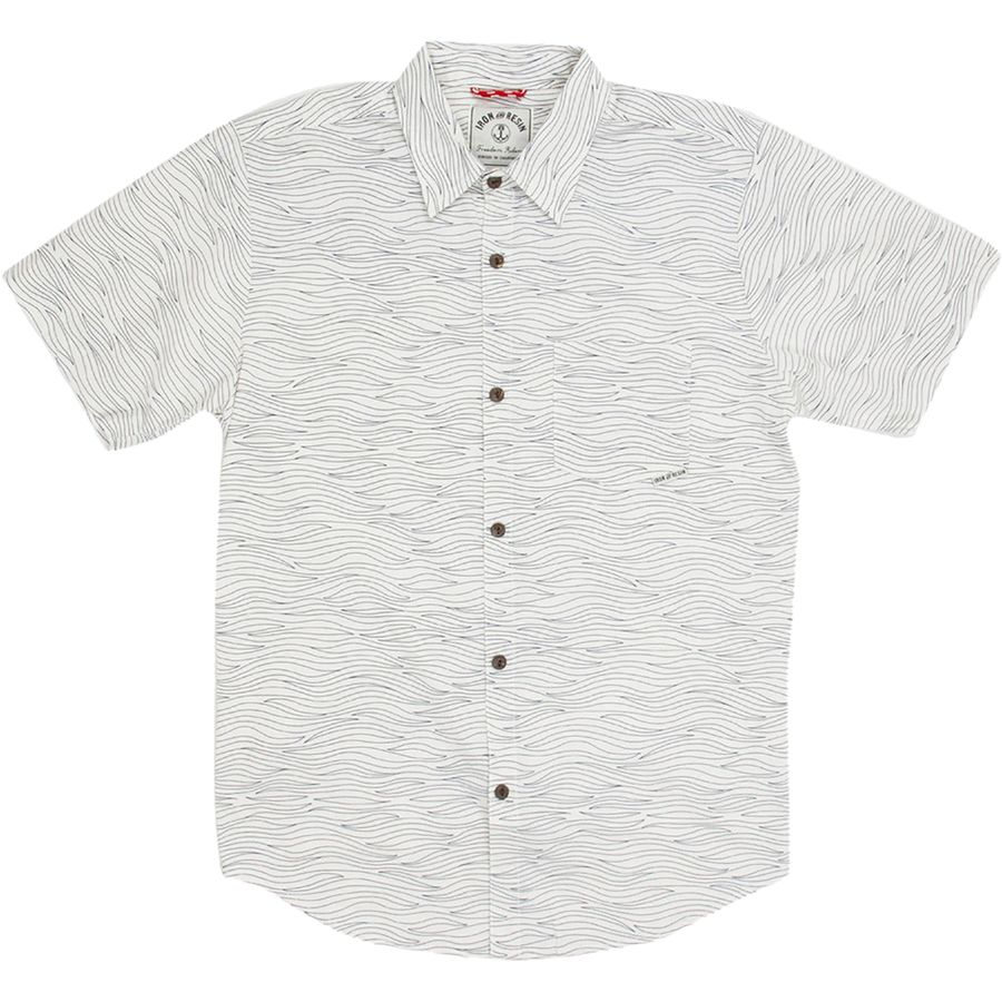 Iron and Resin Olas Shirt - Short-Sleeve - Men's Natural アウトドア メンズ 男性用 シャツ Button-Down Shirts