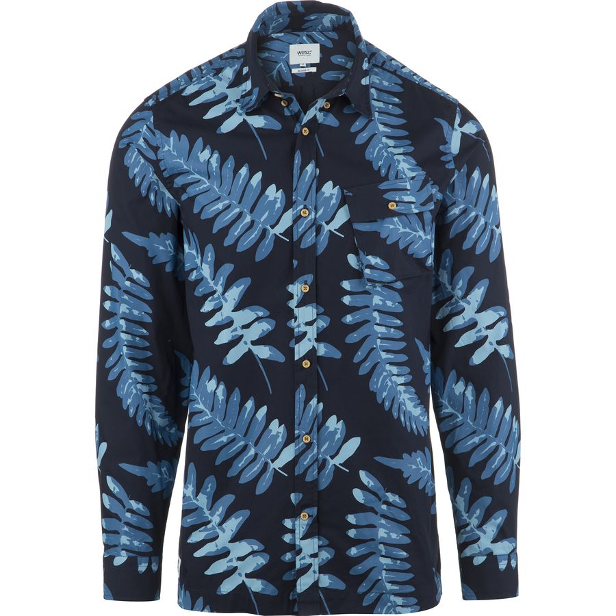 WeSC Tropical Shirt - Long-Sleeve - Men's Insignia Blue アウトドア メンズ 男性用 シャツ Button-Down Shirts