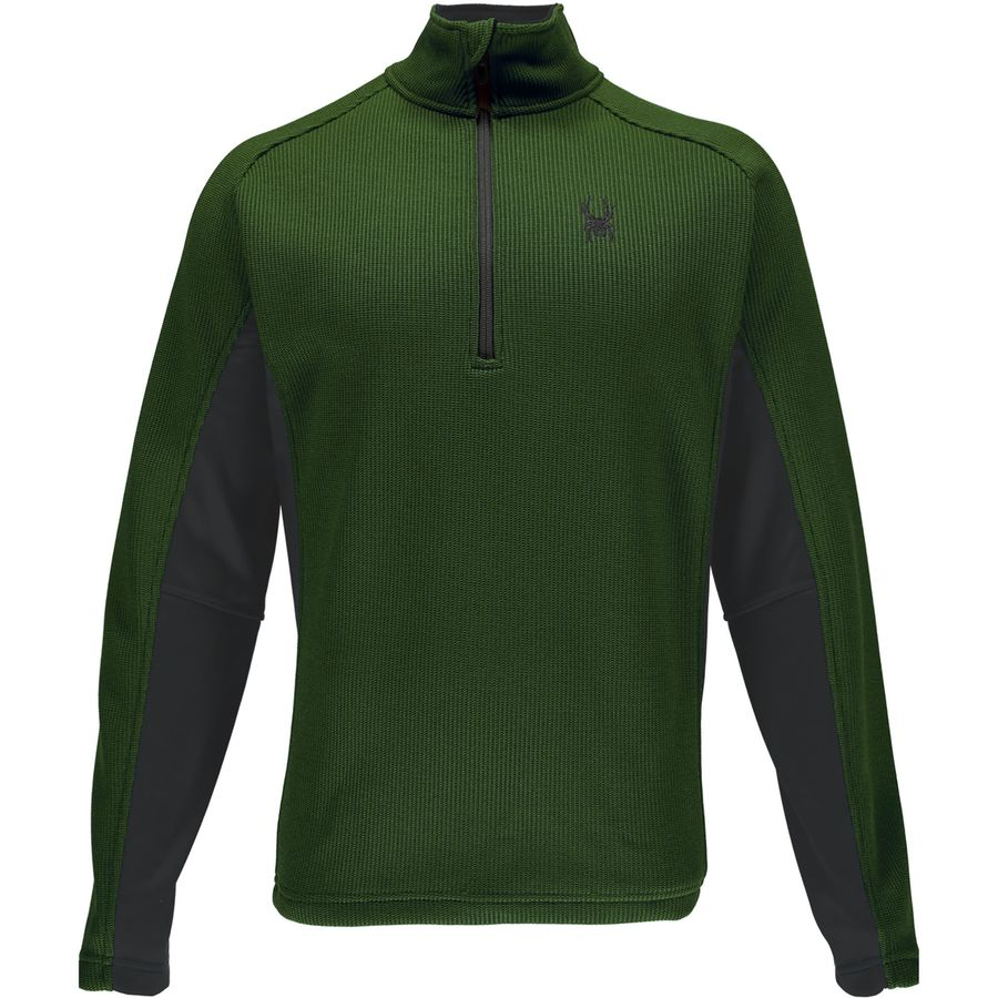 Spyder Outbound 1 2-Zip Midweight Core Sweater - Men's Albion Green Polar Albion Green アウトドア メンズ 男性用 セーター Sweaters