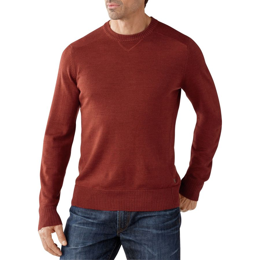 SmartWool Kiva Ridge Crew Sweater - Men's Moab Rust Heather アウトドア メンズ 男性用 セーター Sweaters