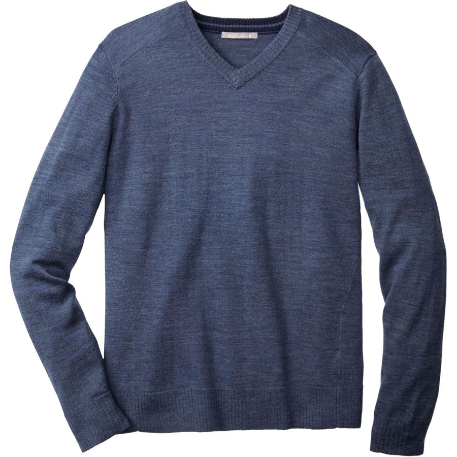 SmartWool Kiva Ridge V-Neck Sweater - Men's Dark Blue Steel Heather アウトドア メンズ 男性用 セーター Sweaters