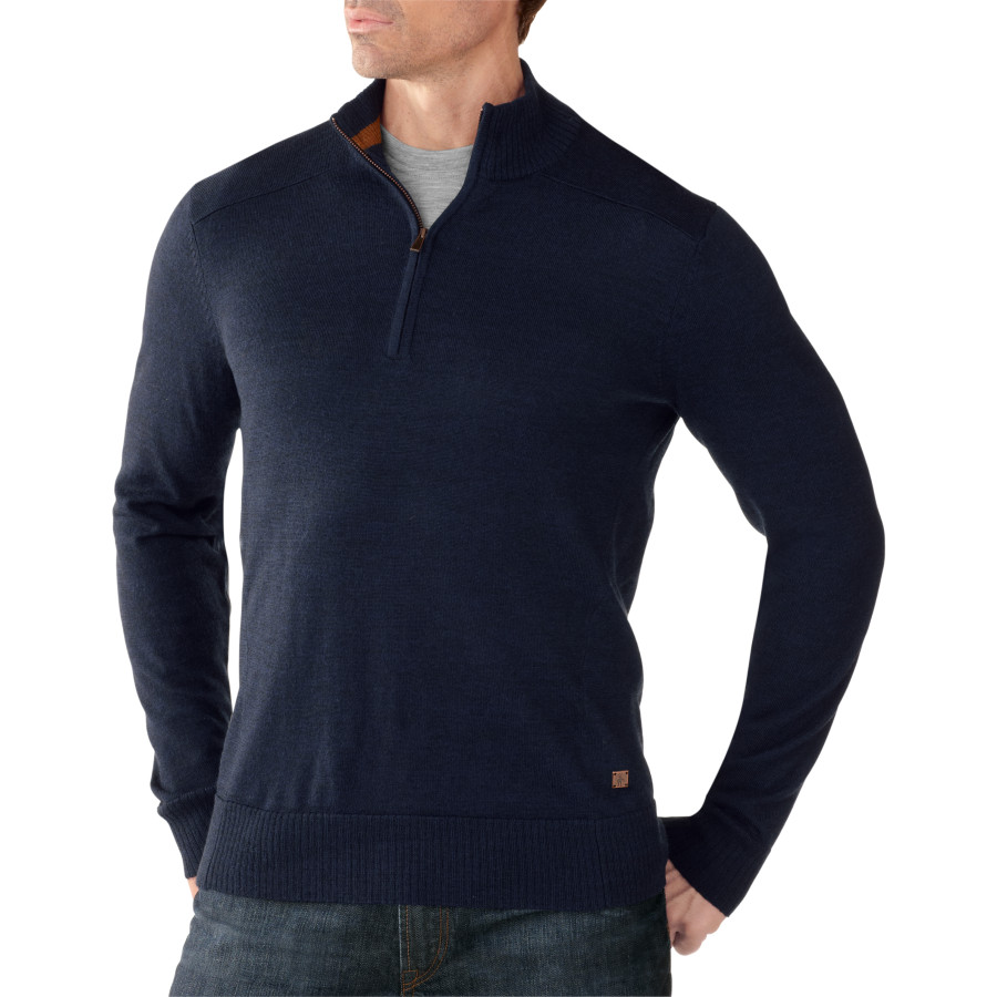 SmartWool Kiva Ridge 1 2-Zip Sweater - Men's Deep Navy Heather アウトドア メンズ 男性用 セーター Sweaters