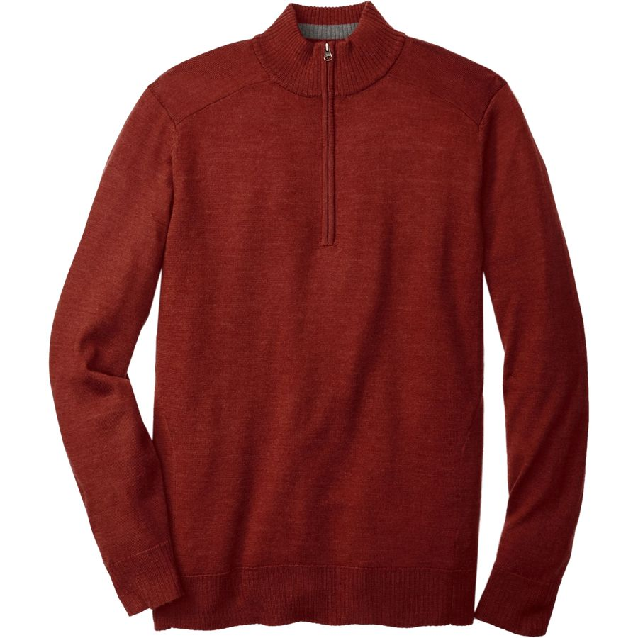 SmartWool Kiva Ridge 1 2-Zip Sweater - Men's Moab Rust Heather アウトドア メンズ 男性用 セーター Sweaters