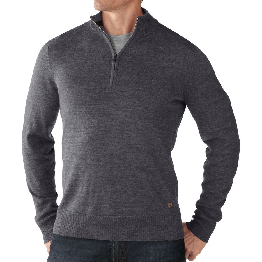 SmartWool Kiva Ridge 1 2-Zip Sweater - Men's Medium Gray Heather アウトドア メンズ 男性用 セーター Sweaters