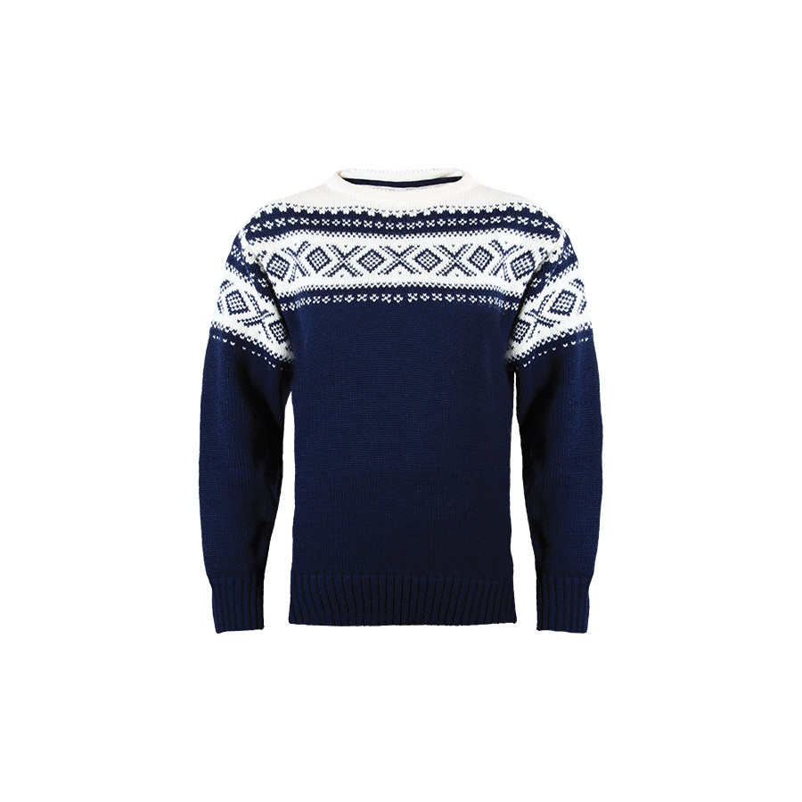 Dale of Norway Cortina 1956 Sweater - Men's Navy Off White アウトドア メンズ 男性用 セーター Sweaters