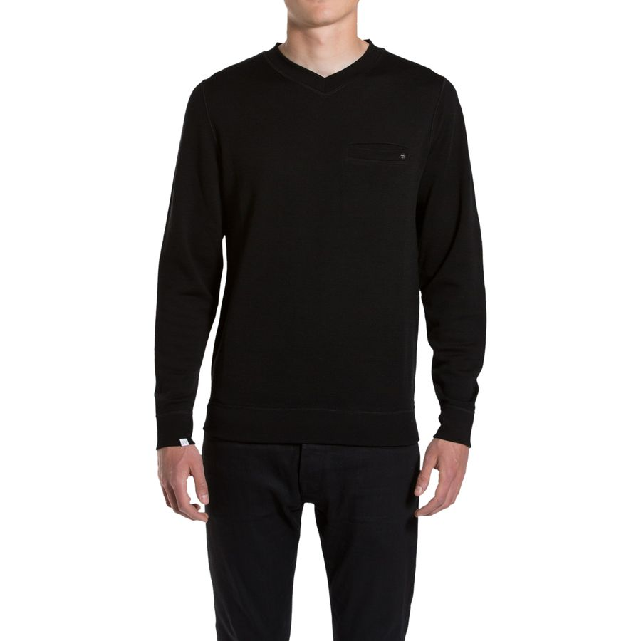 We Norwegians BaseTwo V-Neck Sweatshirt - Men's Black アウトドア メンズ 男性用 セーター Sweaters