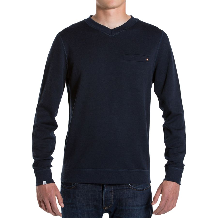 We Norwegians BaseTwo V-Neck Sweatshirt - Men's Navy アウトドア メンズ 男性用 セーター Sweaters