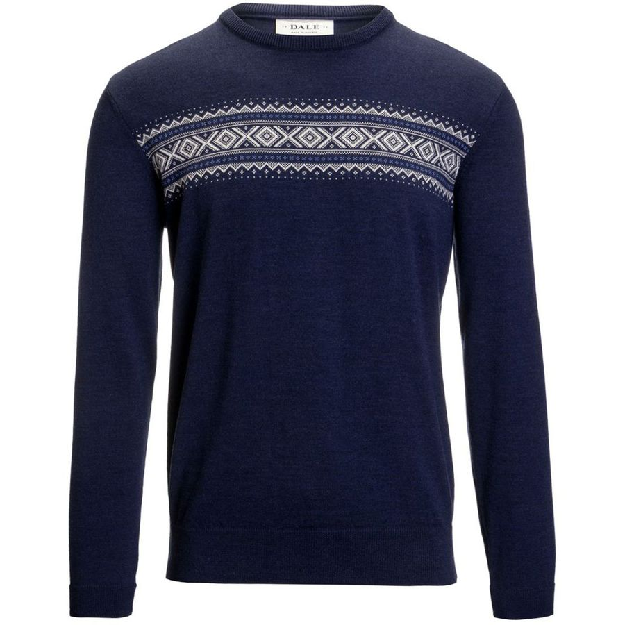 Dale of Norway Sverre Sweater - Men's Navy Melange Off White Medium Blue アウトドア メンズ 男性用 セーター Sweaters
