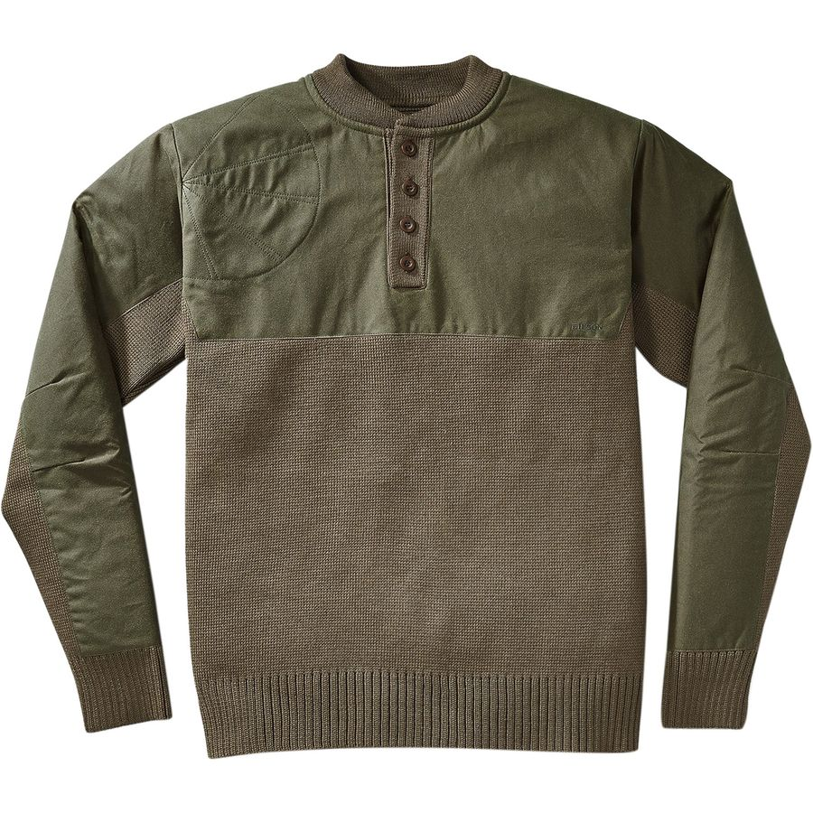 Filson Henley Guide Sweater - Men's Peat Green アウトドア メンズ 男性用 セーター Sweaters