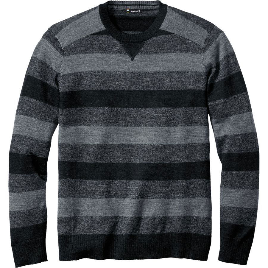 SmartWool Kiva Ridge Striped Crew Sweater - Men's Charcoal Heather アウトドア メンズ 男性用 セーター Sweaters