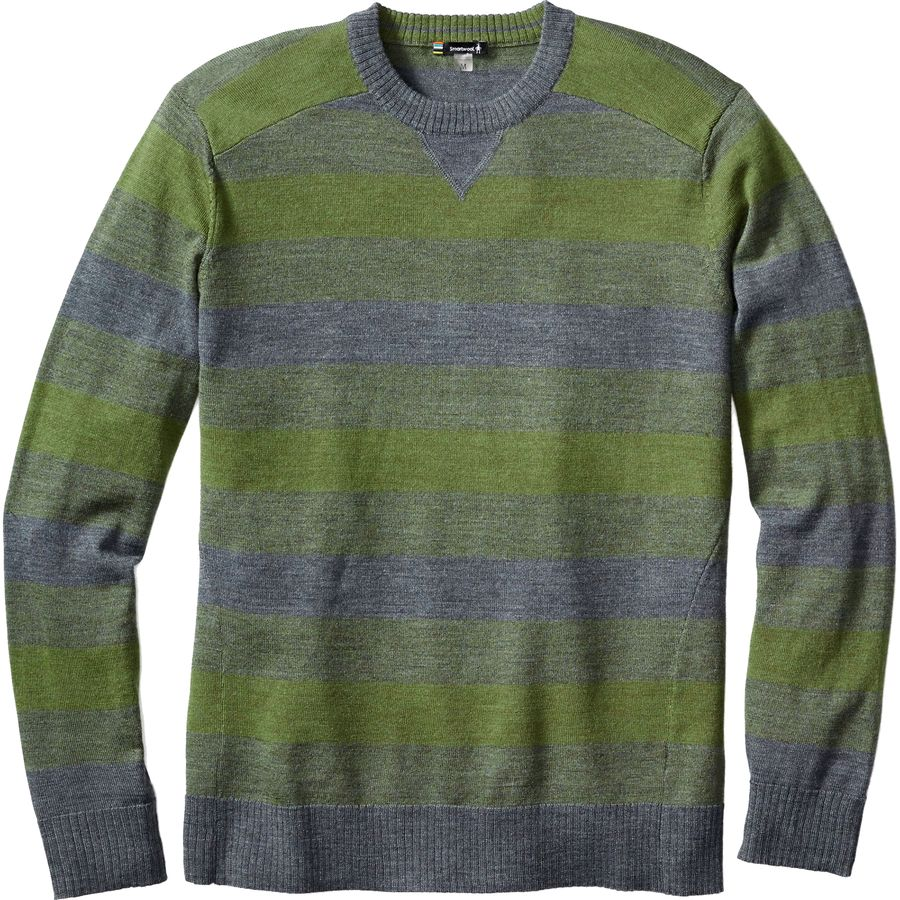 SmartWool Kiva Ridge Striped Crew Sweater - Men's Light Loden Heather アウトドア メンズ 男性用 セーター Sweaters