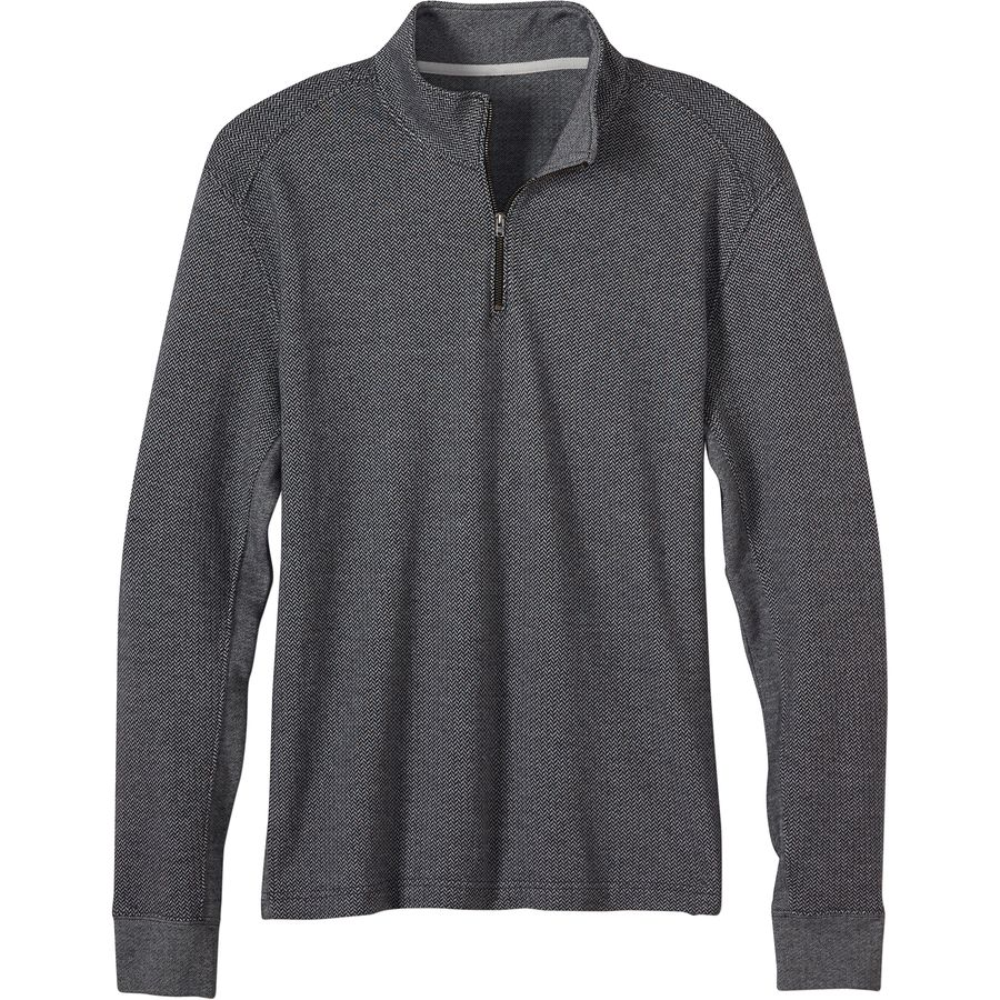 Prana Irwin 1 4-Zip Sweater - Men's Black アウトドア メンズ 男性用 セーター Sweaters