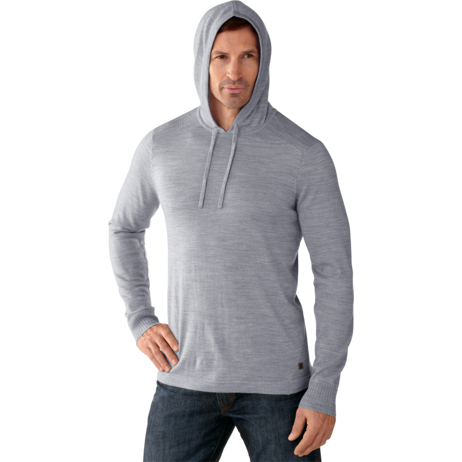 SmartWool Kiva Ridge Hooded Sweater - Men's Silver Gray Heather アウトドア メンズ 男性用 セーター Sweaters