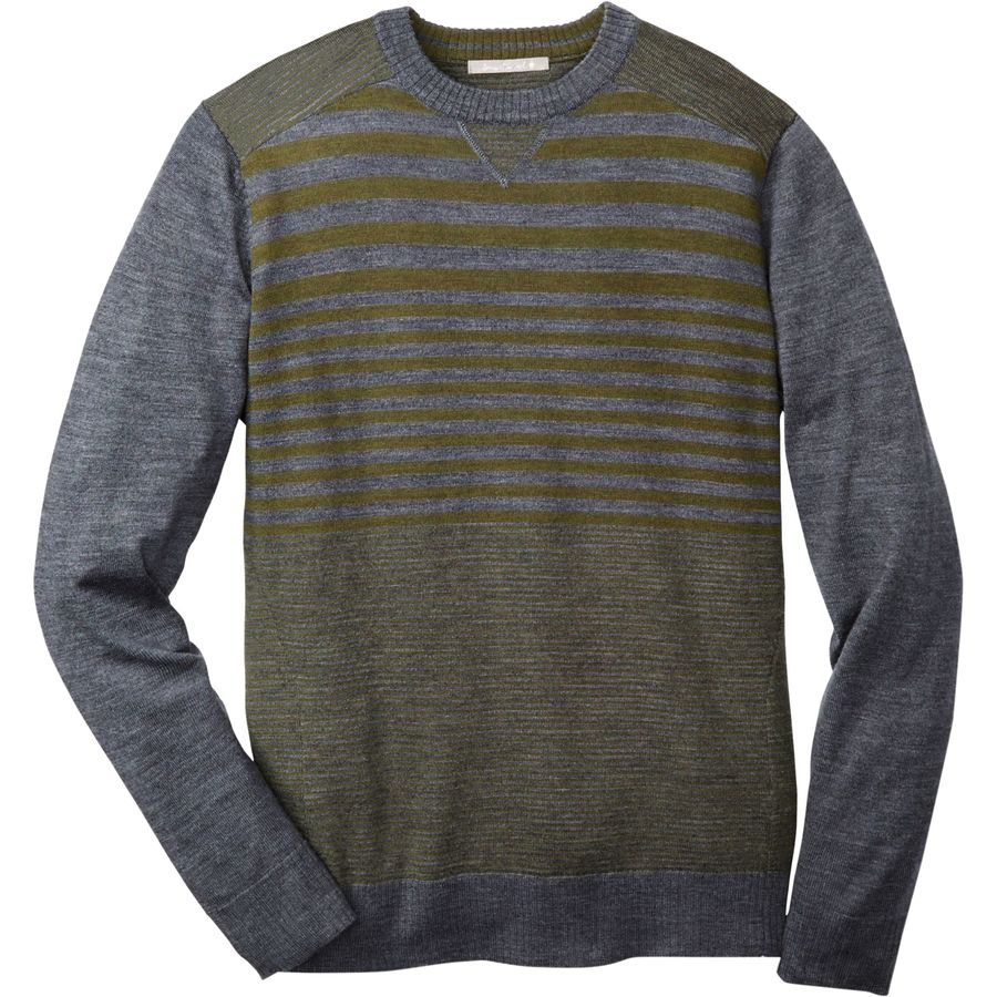 SmartWool Kiva Ridge Striped Crew Sweater - Men's Medium Gray Heather アウトドア メンズ 男性用 セーター Sweaters