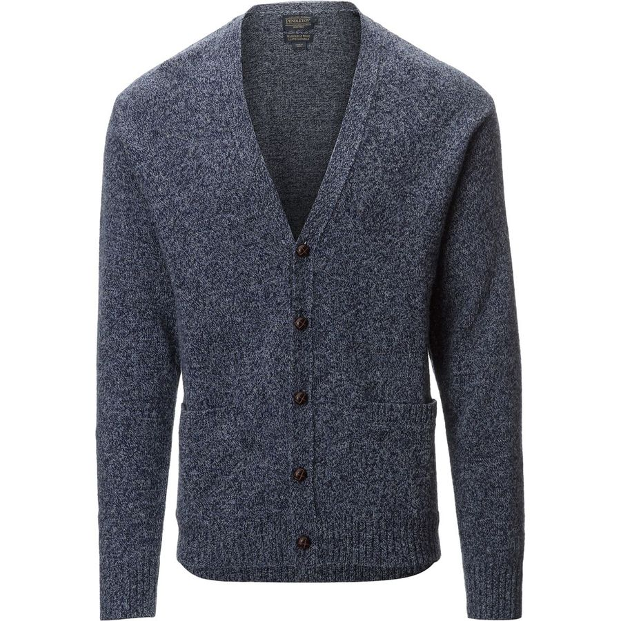 Pendleton Shetland Cardigan Sweater - Men's Twilight Blue Heather アウトドア メンズ 男性用 セーター Sweaters