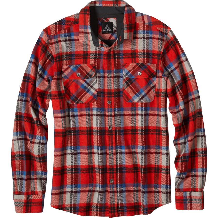 Prana Lybek Flannel Shirt - Long-Sleeve - Men's Fireball アウトドア メンズ 男性用 シャツ ジャケット Flannel Shirts And Jackets