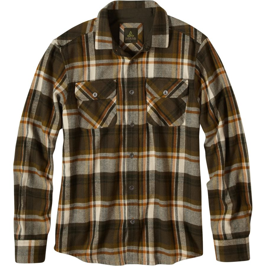 Prana Lybek Flannel Shirt - Long-Sleeve - Men's Cargo Green アウトドア メンズ 男性用 シャツ ジャケット Flannel Shirts And Jackets