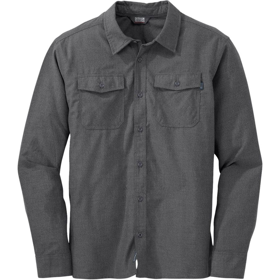 Outdoor Research Gastown Flannel Shirt - Men's Charcoal アウトドア メンズ 男性用 シャツ ジャケット Flannel Shirts And Jackets