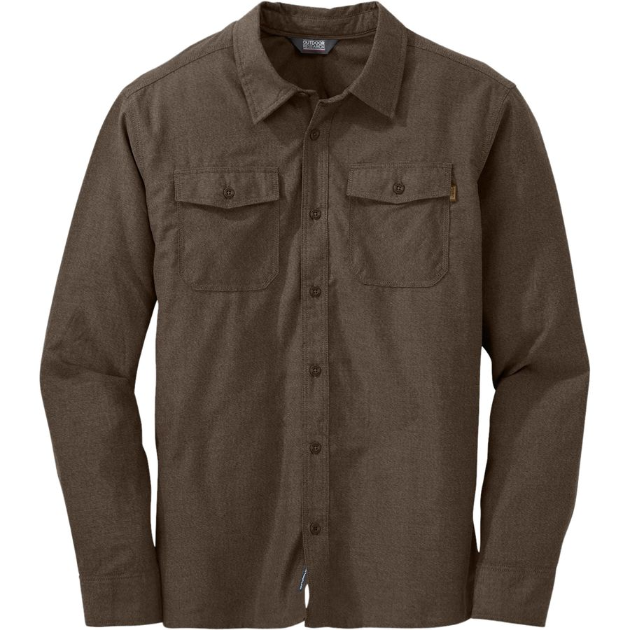 Outdoor Research Gastown Flannel Shirt - Men's Earth アウトドア メンズ 男性用 シャツ ジャケット Flannel Shirts And Jackets