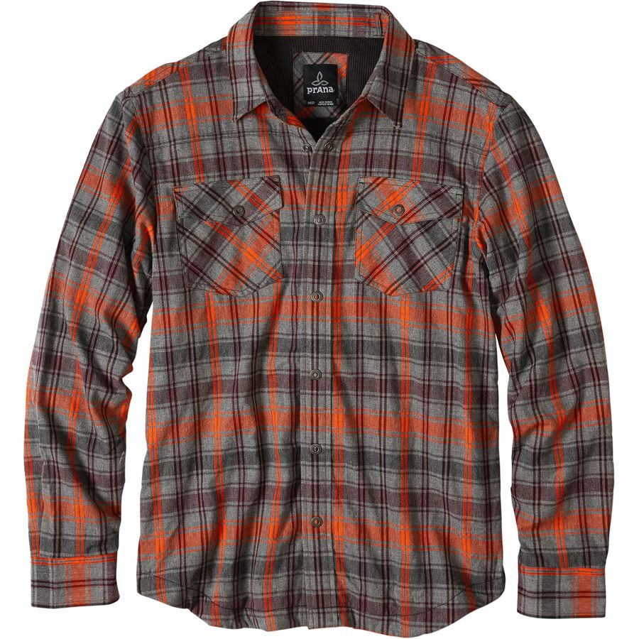 Prana Asylum Flannel Shirt - Men's Fireball アウトドア メンズ 男性用 シャツ ジャケット Flannel Shirts And Jackets
