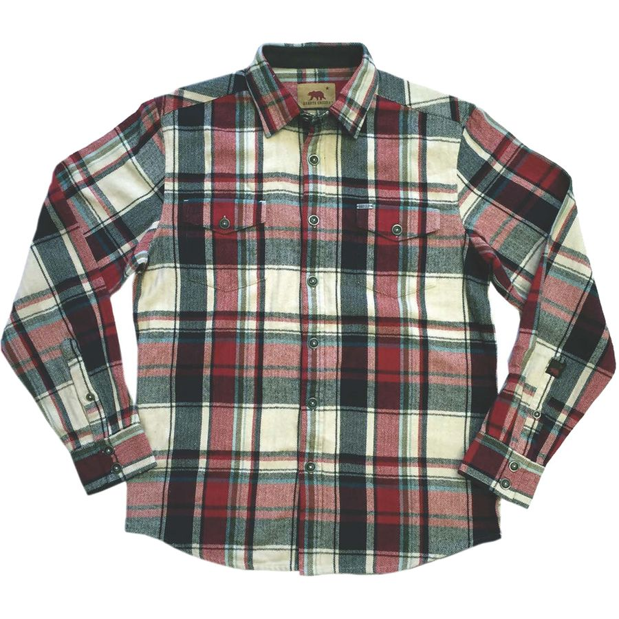 Dakota Grizzly Turner Flannel Shirt - Long-Sleeve - Men's Brick アウトドア メンズ 男性用 シャツ ジャケット Flannel Shirts And Jackets