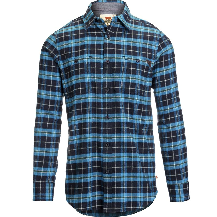 Dakota Grizzly Easton Flannel Shirt - Long-Sleeve - Men's Azure アウトドア メンズ 男性用 シャツ ジャケット Flannel Shirts And Jackets