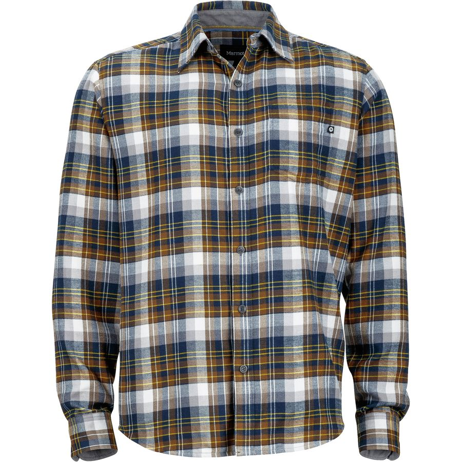 Marmot Fairfax Flannel Shirt - Long-Sleeve - Men's Vintage Navy アウトドア メンズ 男性用 シャツ ジャケット Flannel Shirts And Jackets