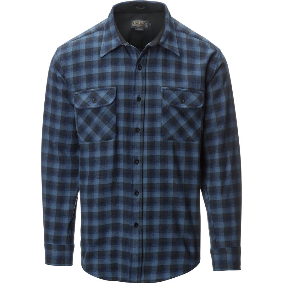Pendleton Maverick Merino Shirt - Men's Blue アウトドア メンズ 男性用 シャツ ジャケット Flannel Shirts And Jackets