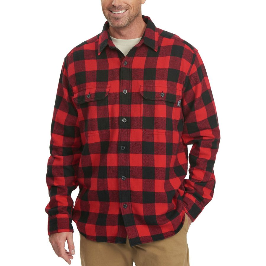 Woolrich Oxbow Bend Modern Flannel Shirt - Long-Sleeve - Men's Old Red Buffalo アウトドア メンズ 男性用 シャツ ジャケット Flannel Shirts And Jackets