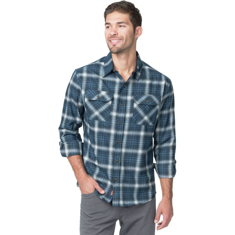 Basin and Range Woodside Hombre Midweight Quick-Dry Flannel Shirt - Men's Blue Hombre アウトドア メンズ 男性用 シャツ ジャケット Flannel Shirts And Jackets