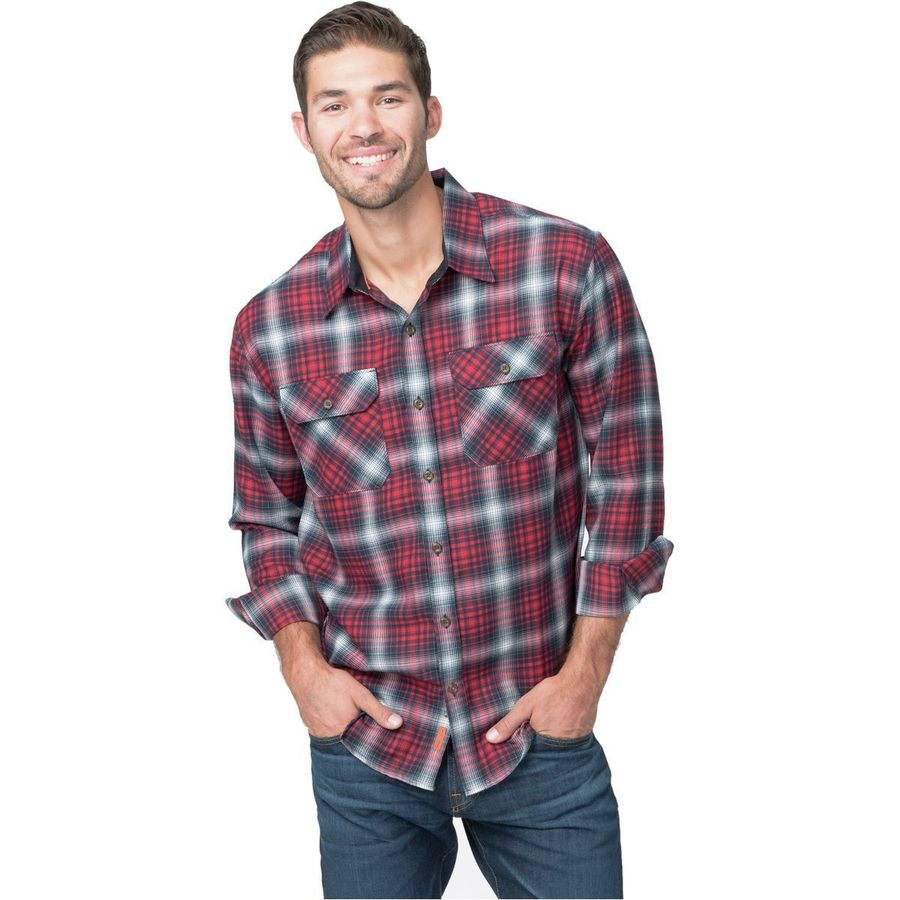 Basin and Range Woodside Hombre Midweight Quick-Dry Flannel Shirt - Men's Red Hombre アウトドア メンズ 男性用 シャツ ジャケット Flannel Shirts And Jackets