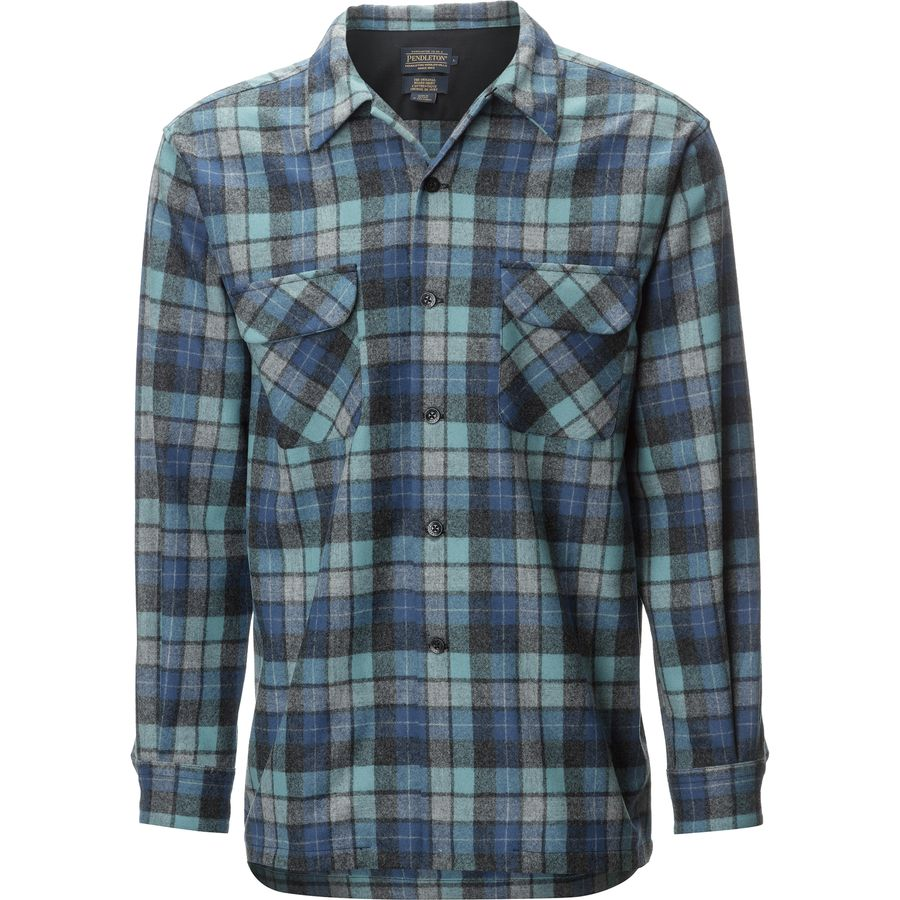 Pendleton Board Shirt - Men's Blue Original Surf Plaid アウトドア メンズ 男性用 シャツ ジャケット Flannel Shirts And Jackets