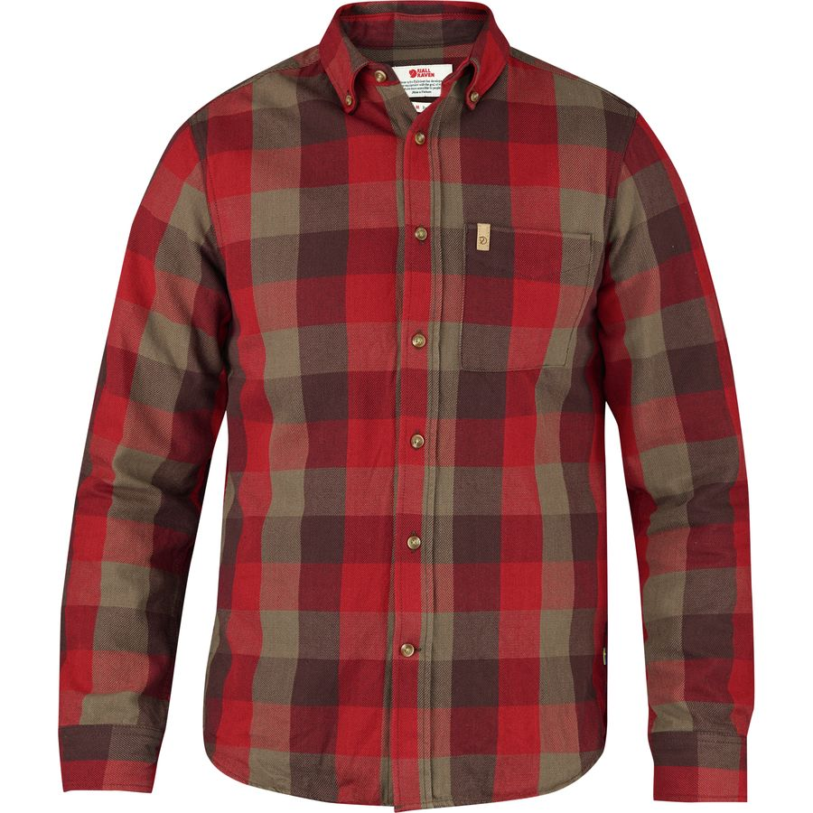 Fjallraven Ovik Big Check Shirt - Long-Sleeve - Men's Burnt Red アウトドア メンズ 男性用 シャツ ジャケット Flannel Shirts And Jackets