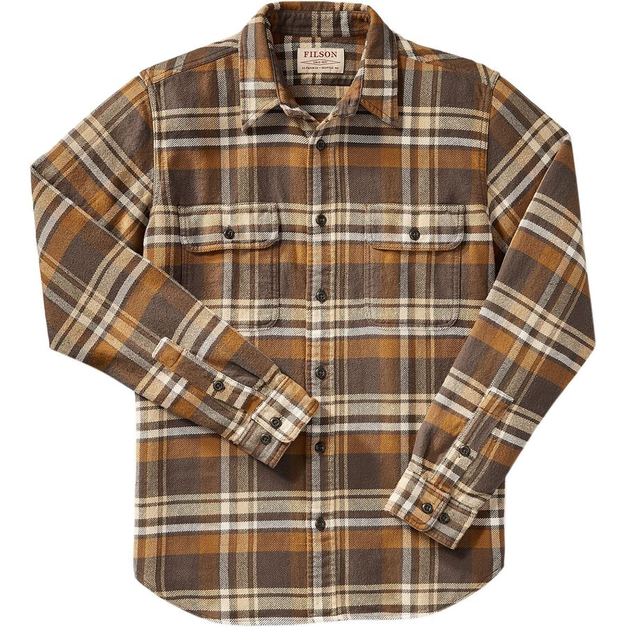 Filson Vintage Flannel Work Shirt - Men's Tan Gold Cream アウトドア メンズ 男性用 シャツ ジャケット Flannel Shirts And Jackets