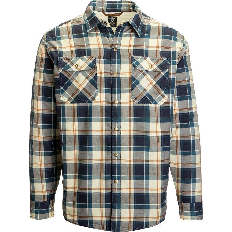 K?HL Outrydr Flannel Shirt - Long-Sleeve - Men's Blue Copper アウトドア メンズ 男性用 シャツ ジャケット Flannel Shirts And Jackets