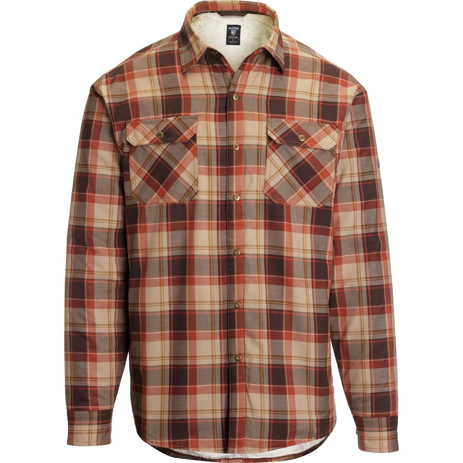 K?HL Outrydr Flannel Shirt - Long-Sleeve - Men's Rustic Brown アウトドア メンズ 男性用 シャツ ジャケット Flannel Shirts And Jackets