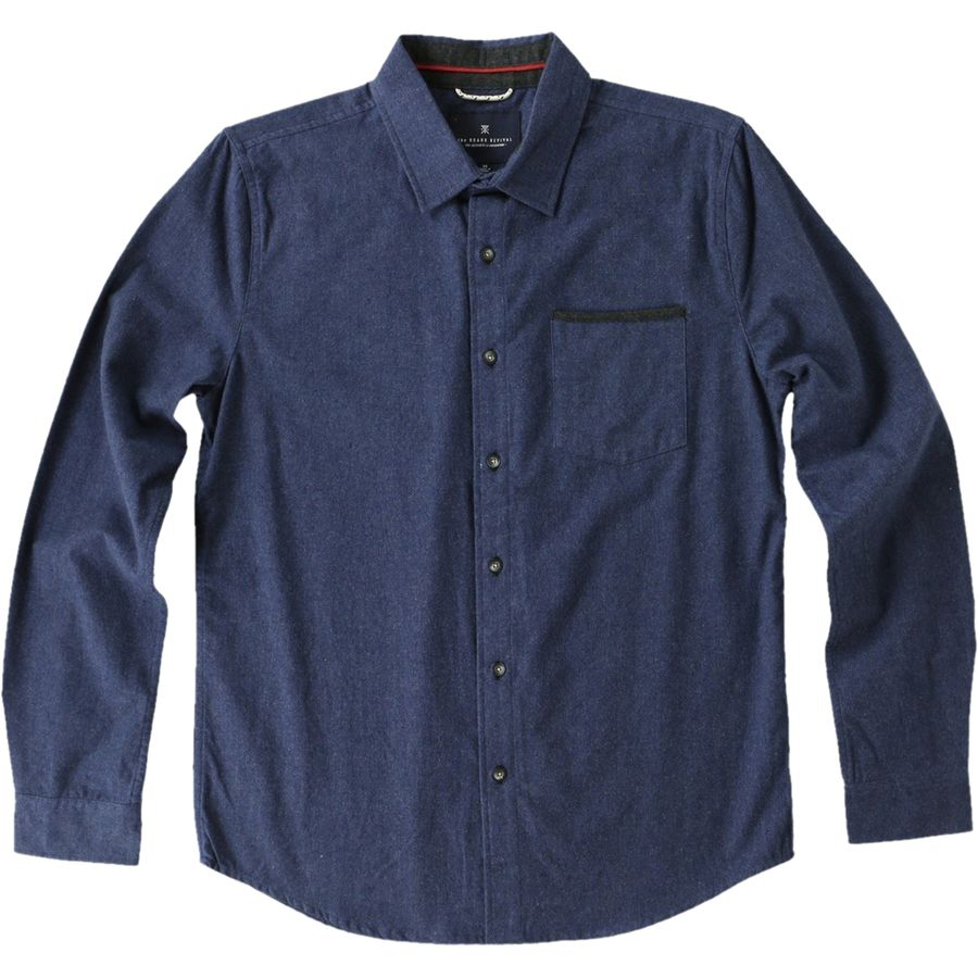 Roark Revival Long Beach Flannel Shirt Men's Heather Navy アウトドア メンズ 男性用 シャツ ジャケット Flannel Shirts And Jackets